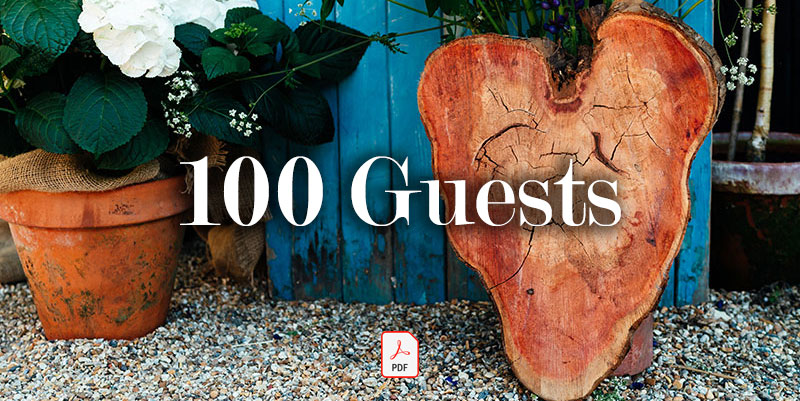 100 Guests - Guide price