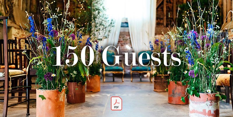 150 Guests - Guide price