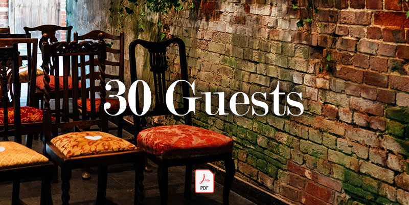 30 Guests - Guide price