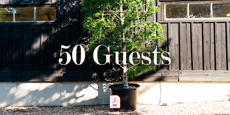 50 Guests - Guide price