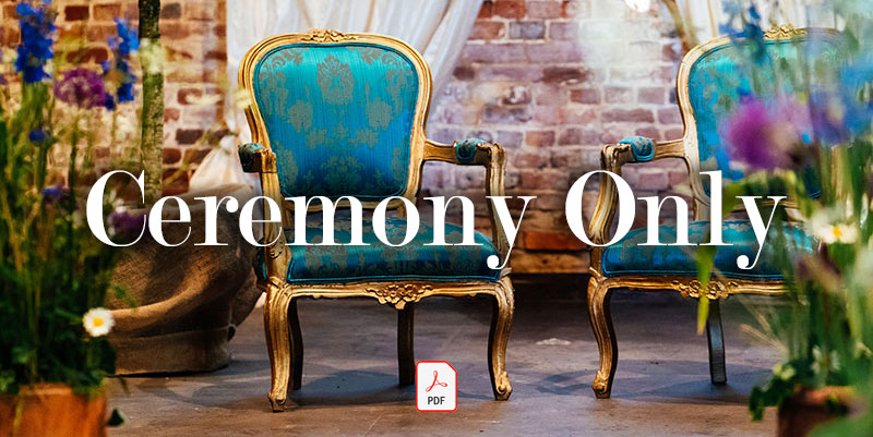 Ceremony Only - Guide price